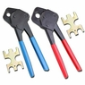 "2 Pex Crimper 1/2"" And 3/4"" Plumbing Crimping Gonogo Set Angle Gauge Tools Combo"