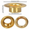 "2000 #0 1/4"" Grommet Machine Grommets & Washers Eyelets Hand Tool Brass/Nickel"