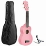 "21"" 4 Strings Soprano Ukulele Hawaiian Instrument 12 Frets Musical Guitar Show"