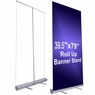 "2pcs Economy 39.5""x79"" Retractable Roll Up Banner Stand Trade Show Sign Display"