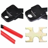 "3/4"" Pex Crimper Copper Ring Crimping Plumbing Tool Crimp W/ Gonogo Angle Gauge"