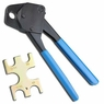 """3/4"""" PEX Crimping Crimper Tool Angle with FREE GoNoGo Tool Copper Ring Gauge"""