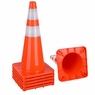 "28"" Traffic Safety Cones Reflective Collars Overlap Parking Construction 6 Pcs"