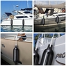 "4x Boat Fenders 6.5""x23"" 8""x27"" Dock Shield Protection Ribbed Inflatable Bumper 8""x27"" & Black"