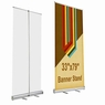 "6 Pcs 33x79"" Aluminum Retractable Roll Up Banner Stand Trade Show Display w/ Bag"