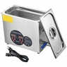 6L Industry Ultrasonic Cleaner Jewelry Dishware Cleaning Machine w/ Timer Heater
