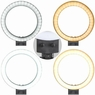 """8"""" Dimmable LED Ring Light Floor Table Stand USB for Selfie Makeup Live Stream"""