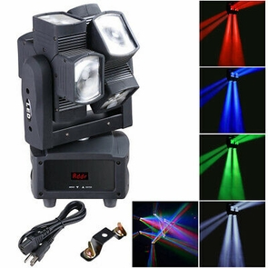 8x10W 4in1 LED Moving Head Light RGBW DMX Stage KTV Disco Infinite Rotation Lamp