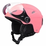 Adult Kid Snow Sports Helmet Ski Skateboard Protection w/ Goggles ASTM Certified For Adults & Pink