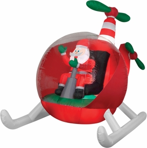 Airblown Helicopter Santa Costume