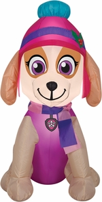 Airblown Skye In Winter Outfit Inflatable - Paw Patrol Costume