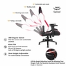 Anda Seat Ergonomic Racing Chair Gaming Tilt Adjustable Swivel Office Black with Red