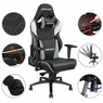 Anda Seat Racing Chair Gaming Adjustable Tilt Swivel PVC Leather High-back 400lb