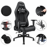 Anda Seat Racing Chair Gaming Chair Adjustable Seat PU Leather Home Office Desk Black