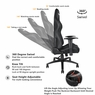 Anda Seat Racing Gaming Chair Leather Adjustable Recliner Office Seat Black
