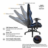 Anda Seat Racing Gaming Chair Leather Adjustable Recliner Office Seat Black & Blue