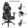 Anda Seat Racing Gaming Chair Leather Adjustable Recliner Office Seat Black & Grey