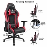 Anda Seat Racing Gaming Chair Leather Adjustable Recliner Office Seat Black & Red