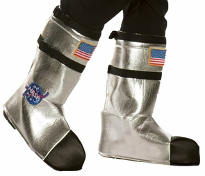 Astronaut Boot Tops Ad Silver Costume