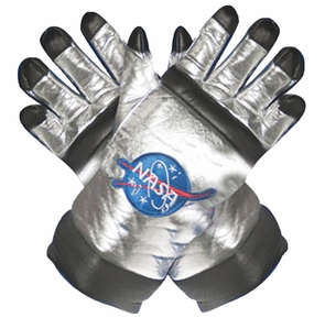 Astronaut Gloves Ad Silver Costume