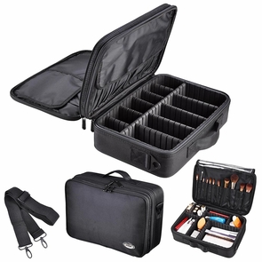 "AW® 1200D Oxford Makeup Train Case Cosmetic Organizer Storage Bag Soft 13"" 15"" Type 1: 13"""