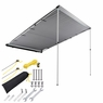Awning Rooftop Car Tent SUV Shelter Truck Camper Outdoor Camping Canopy Sunshade Gray, 6.6x8.2'
