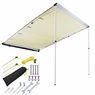 Awning Rooftop Car Tent SUV Shelter Truck Camper Outdoor Camping Canopy Sunshade Sand, 4.6x6.6'