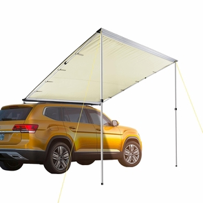 Awning Rooftop Car Tent SUV Shelter Truck Camper Outdoor Camping Canopy Sunshade Sand, 6.6x8.2'