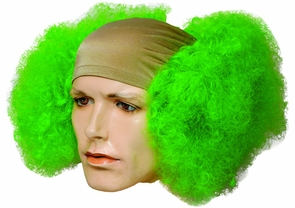Bald Curly Clwn Fl Front Green Costume
