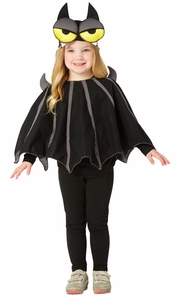 Big Eyed Bat Poncho 3-4 Costume