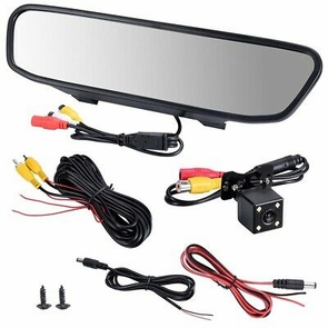 "Car Rear View 4.3"" TFT Mirror Monitor Display w/ Waterproof Night Vision Camera"