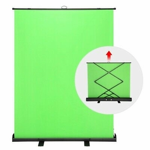 Collapsible Pull Up Green Screen Video Photography Background 5ft x 6.6ft Green