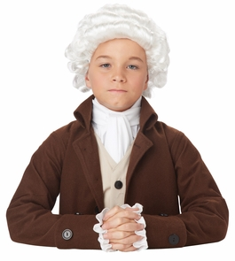 Colonial Man Wig Child Costume