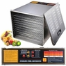 Commercial Food Dehydrator 10 Tray Stainless Steel 55L Fruit Meat Jerky Dryer