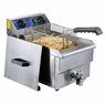 Commercial Restaurant Electric 11.7L Deep Fryer Stainless Steel w/ Timer Drain
