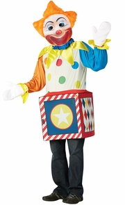 Creepy Clown In The Box 7-10 Costume