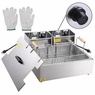 Deep Fryer Single Large Tank Commercial 5000W 20L Electric Tabletop Fry Basket