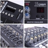 DJ Studio Power Mixer Amplifier 16DSP LCD Recording USB Slot 4 6 8 10 Channel Type 1: 6 Channel
