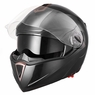 DOT Flip up Modular Full Face Motorcycle Helmet Dual Visor Motocross Size M & Black