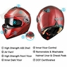DOT Flip up Modular Full Face Motorcycle Helmet Dual Visor Race Motocross Red M