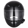 DOT Motorcycle Full Face Adult Helmet Size M-XL w/ Bluetooth Wireless Headset High Gloss Black & Size XL