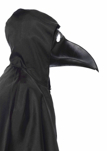 Faux Leather Plague Dr Mask Costume