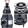 Garbage Disposal 1.0 HP Continuous Feed Home Kitchen Food Waste w/ Plug 2600 RPM