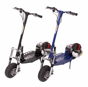Gas Powered Scooters 50cc Racer W/Suspension And More