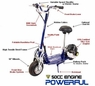 Gas Scooters W/50cc EPA Certified Engine, Electric Start, & Extras