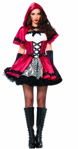 Gothic Red Riding Hood Xlarge Costume