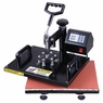 "Heat Press Machine 12x15"" 15x15"" Digital Transfer Sublimation T-Shirt Printer 7 in 1 set, 12""x15"" & Black"