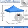 Heavy Duty 10X10 Ez Pop Up Canopy Instant Shade Commercial Tent Roller Bag Blue