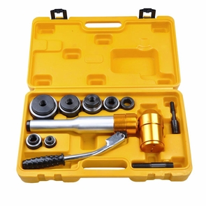 Hydraulic Knockout Punch Driver Kit Hand Pump Hole Case Tool 11 Gauge 15 9 6 Ton 6Ton Gold