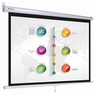 "Instahibit® 100"" 16:9 Movie Manual Projection Screen Pull Down Projector 87x49"